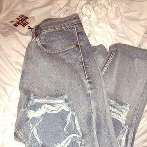 Boohoo denim boyfriend jeans